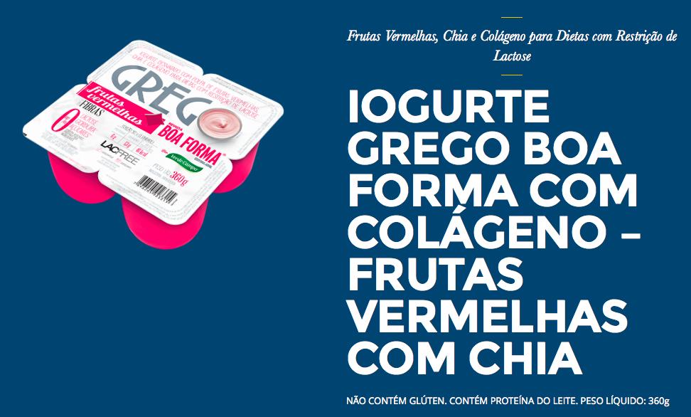 Informação Nutricional do Iogurte Grego Boa Forma chris castro 3