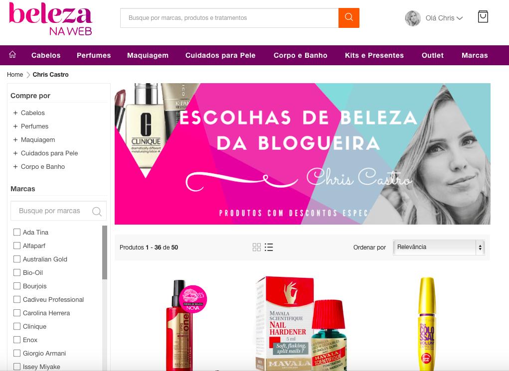 Melhores produtos de beleza na web chris castro 1